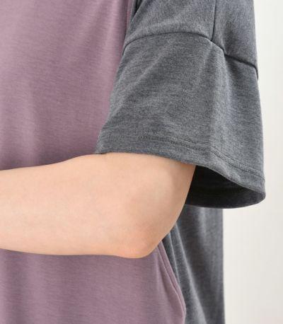 ゆとりのある丈感で二の腕をすっきり見せます。