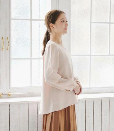 サイドスタイル 授乳服 ピュアミール フレンチピンク 160cm