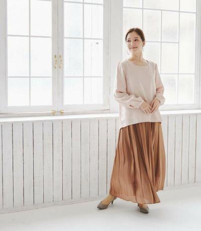 フロントスタイル 授乳服 ピュアミール テラコッタ 164cm