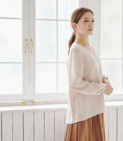 サイドスタイル 授乳服 ピュアミール テラコッタ 164cm
