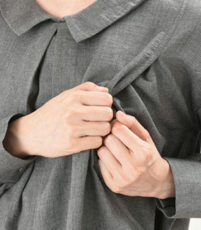 授乳口は授乳口は抱っこひもとも相性の良いサイドスリットタイプ。