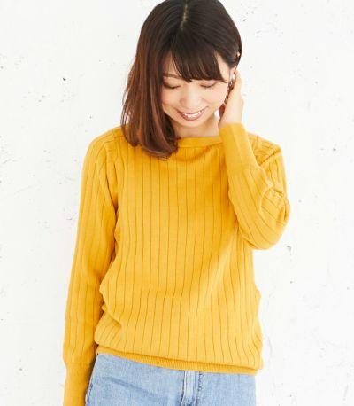 フロントスタイル 授乳服 コローレニット ミモザイエロー Lサイズ 164㎝