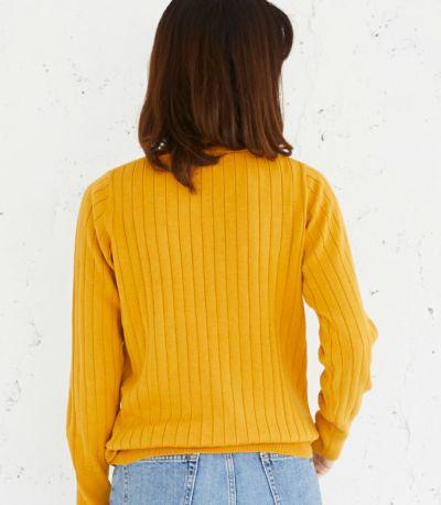 バックスタイル 授乳服 コローレニット ミモザイエロー Lサイズ 164㎝