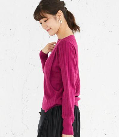 サイドスタイル 授乳服 コローレニット ラズベリーピンク Lサイズ 160㎝