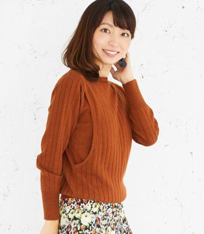 サイドスタイル 授乳服 コローレニット ラセットブラウン Lサイズ 164㎝