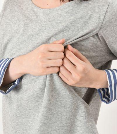 授乳口はサイドスリットタイプの授乳服。