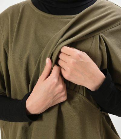 授乳口はサイドスリットタイプの授乳服