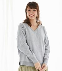 【試着OK】シンプルVニット 授乳服 マタ二ティ服【授乳服・マタニティウェア・授乳ブラ】