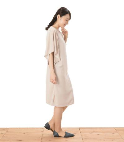 サイドスタイル 授乳服 パウダースクリーンワンピ アイボリー 164cm