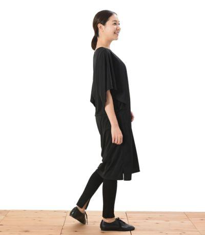 サイドスタイル 授乳服 パウダースクリーンワンピ ブラック 162cm