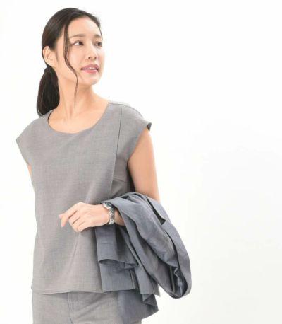 フロントスタイル 授乳服 Siam(シャム) グレー Mサイズ 168cm