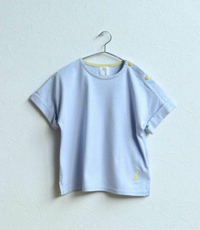 シマウマ×ターコイズ:ターコイズの生地にホワイトのシマウマ刺繍