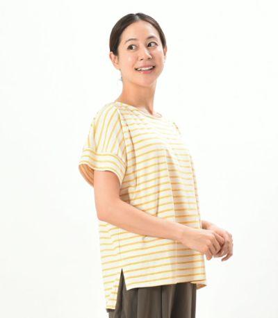 サイドスタイル 授乳服 マーカーボーダーT イエロー 162㎝