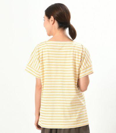 バックスタイル 授乳服 マーカーボーダーT イエロー 162㎝