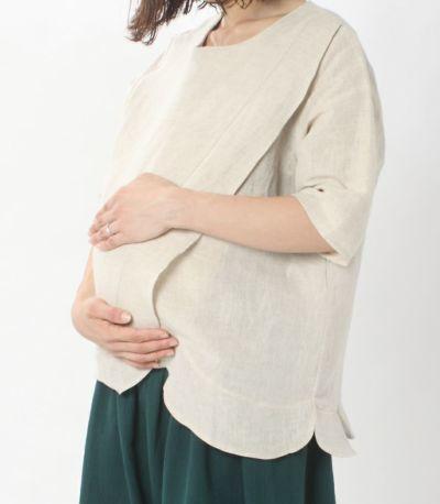 マタニティ(腹囲100cm)対応のマタニティウェア兼用授乳服