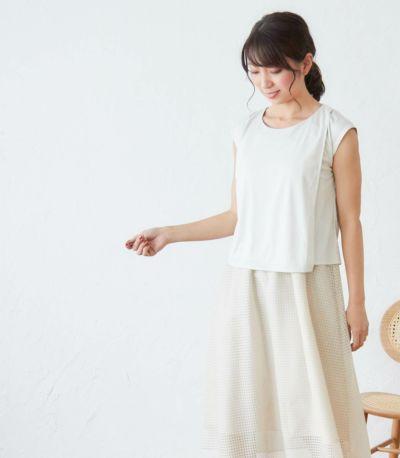 フロントスタイル 授乳服 フネートル ネイビー 162cm