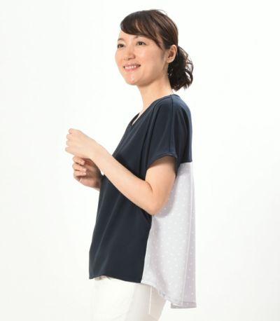 サイドスタイル 授乳服 シードルドット ネイビー 164cm