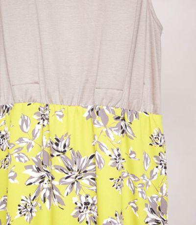 スカートの上部インナーは、トップスから透けにくい配色。アイボリ