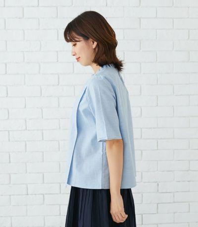 サイドスタイル 授乳服 オーガニックフリルシャツ ナチュラル 163cm