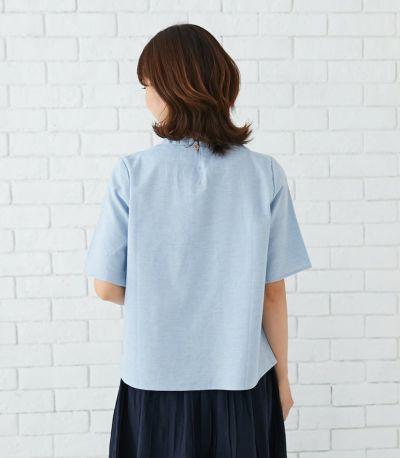 バックスタイル 授乳服 オーガニックフリルシャツ ナチュラル 163cm
