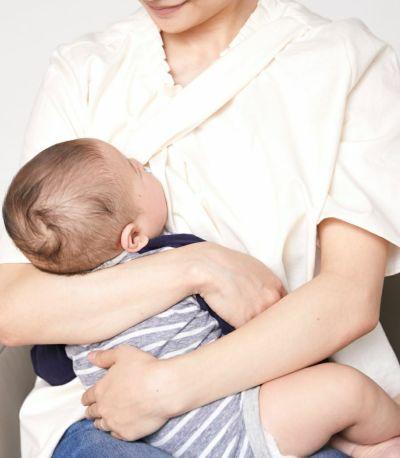 サイドスタイル 授乳服 オーガニックフリルシャツ サックス 163cm