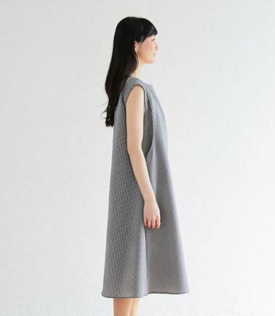 サイドスタイル 授乳服 ノースリーブAラインワンピース ブラック 163cm