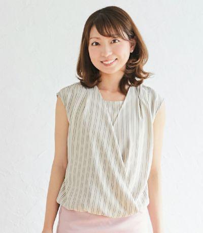 ストライプカシュクールトップス 授乳服 日本製【授乳服・マタニティウェア・授乳ブラ】