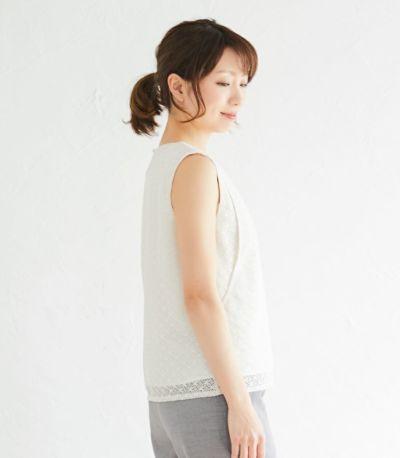 サイドスタイル 授乳服 ノースリーブレーストップス アイボリー 164cm