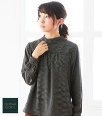 QOOL Geometric(ジオメトリック)ブラウス 授乳服 日本製【授乳服・マタニティウェア・授乳ブラ】