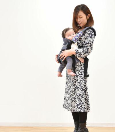 フロントスタイル 授乳服 フラワープリントワンピース ブラウン 160cm