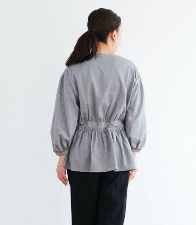 バックスタイル 授乳服 ナチュラルカシュクールシャツ ブラック Mサイズ 160cm