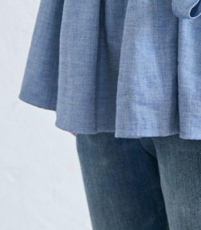 ナチュラルカシュクールシャツ 授乳服 日本製