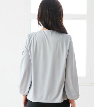 バックスタイル 授乳服 タックブラウス グレー 160cm