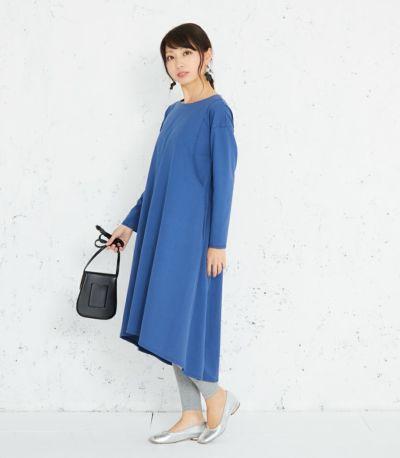 《試着OK》<再入荷>フレアーカットソーワンピース 授乳服 マタニティ服 日本製