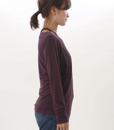 サイドスタイル 授乳服 みつあみウォームロンT パープル 160cm