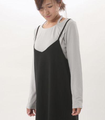 フロントスタイル 授乳服 みつあみウォームロンT グレー 160cm