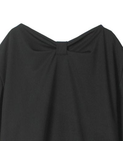 ブラック バックリボンワンピース 授乳服
