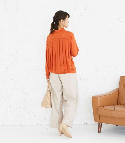 バックスタイル 授乳服 タックドレープT(オレンジ) バックスタイル 160cm