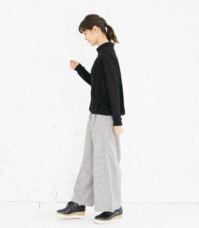 サイドスタイル 授乳服 タックドレープT(ブラック) サイドスタイル 160cm
