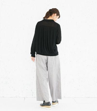バックスタイル 授乳服 タックドレープT(ブラック) バックスタイル 160cm