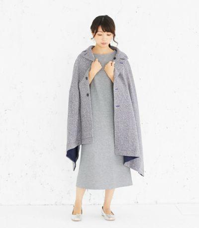 授乳服 変わり袖切替ワンピース(グレー) 164cm