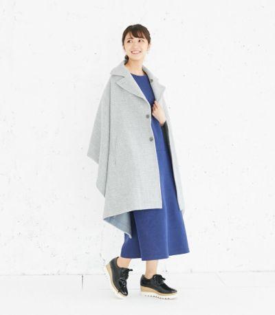 授乳服 変わり袖切替ワンピース(ネイビー) 160cm