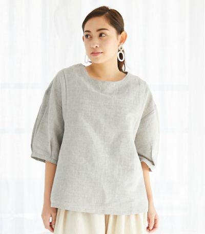フロントスタイル ネパール製 授乳服 patan(パタン) グレー 161cm