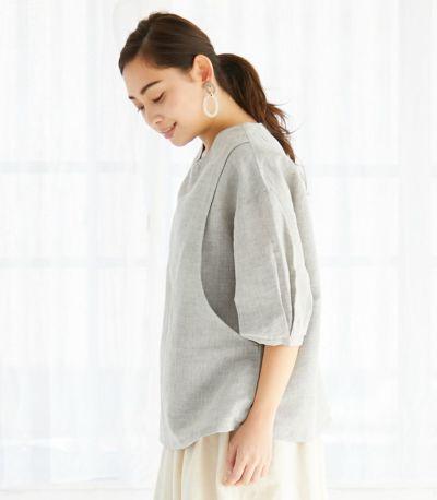 サイドスタイル ネパール製 授乳服 patan(パタン) グレー 161cm