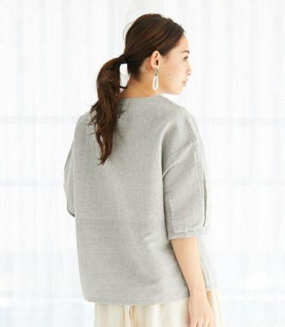 バックスタイル ネパール製 授乳服 patan(パタン) グレー 161cm