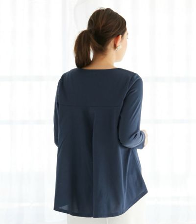 バックスタイル 授乳服 バックフレアーカットソー チャコール 161cm