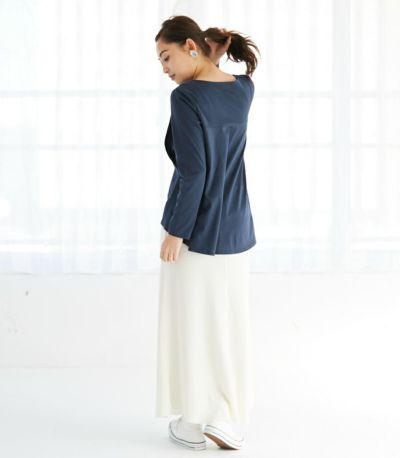授乳服 バックフレアーカットソー チャコール 161cm