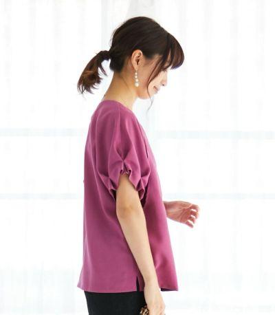 授乳服 タックショートスリーブブラウス ピンク 164cm
