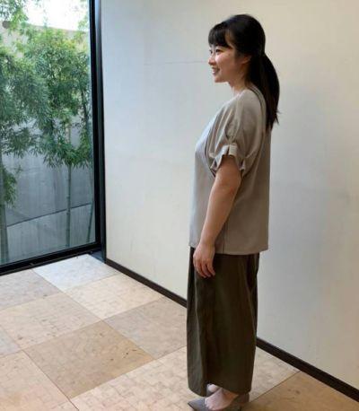 授乳服 タックショートスリーブブラウス ベージュ 156cm