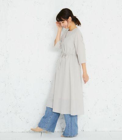 サイドスタイル 授乳服 カシュクールワンピース グレー 164㎝